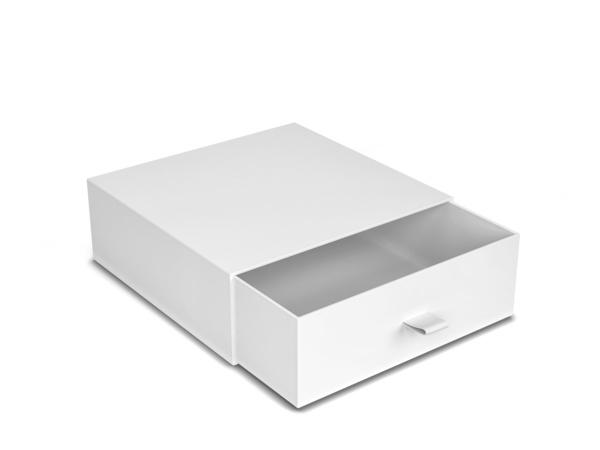 Blank drawer type box mockup